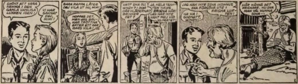 Den inledande strippen till Spioner i vilda västern