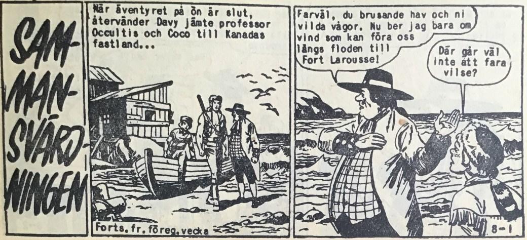 Den inledande sidan ur Prärieserier nr 8, 1959