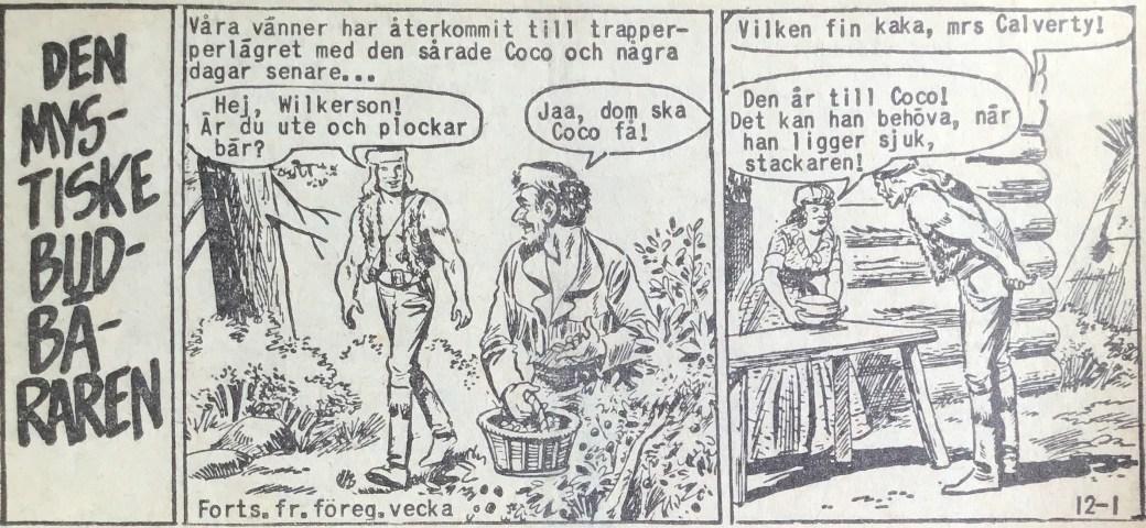Den inledande sidan ur Prärieserier nr 12, 1960