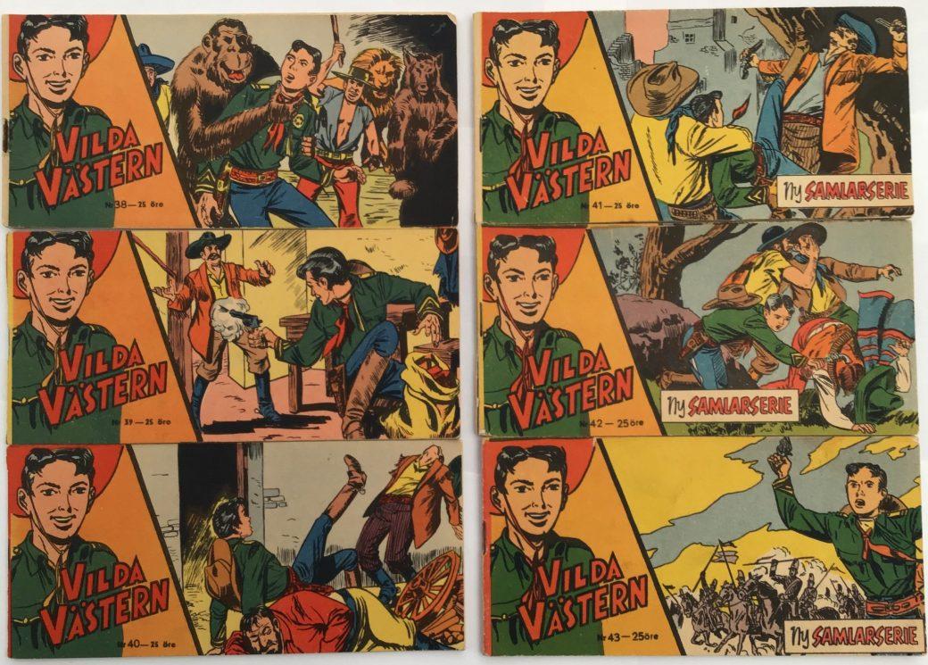 Vilda Västern nr 38-43, 1957