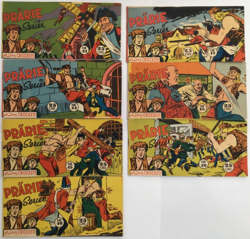 Davy Crockett-äventyr 1959 i Prärieserier nr 43-49, 1959