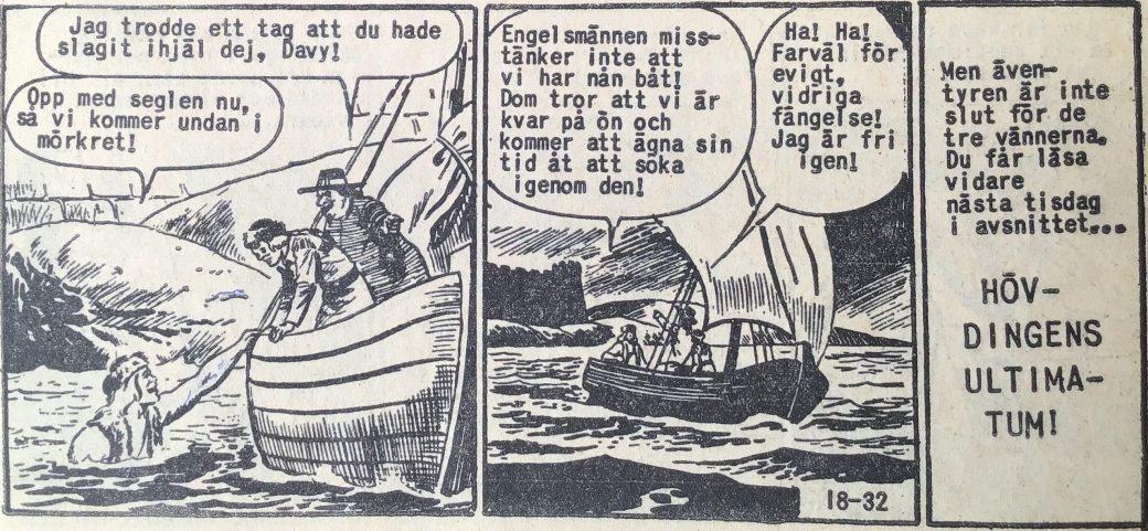 Den avslutande sidan ur Prärieserier nr 18, 1960