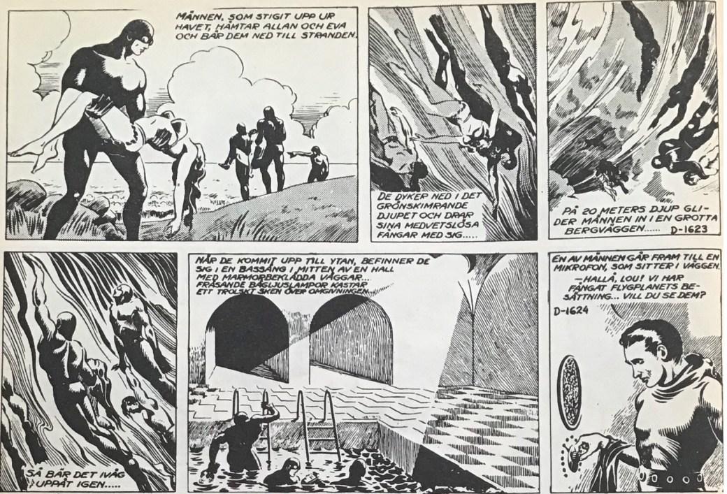 Dagsstripparna D-1623 och D-1624 ur Allan Kämpe nr 4, 1962 från Formatic Press