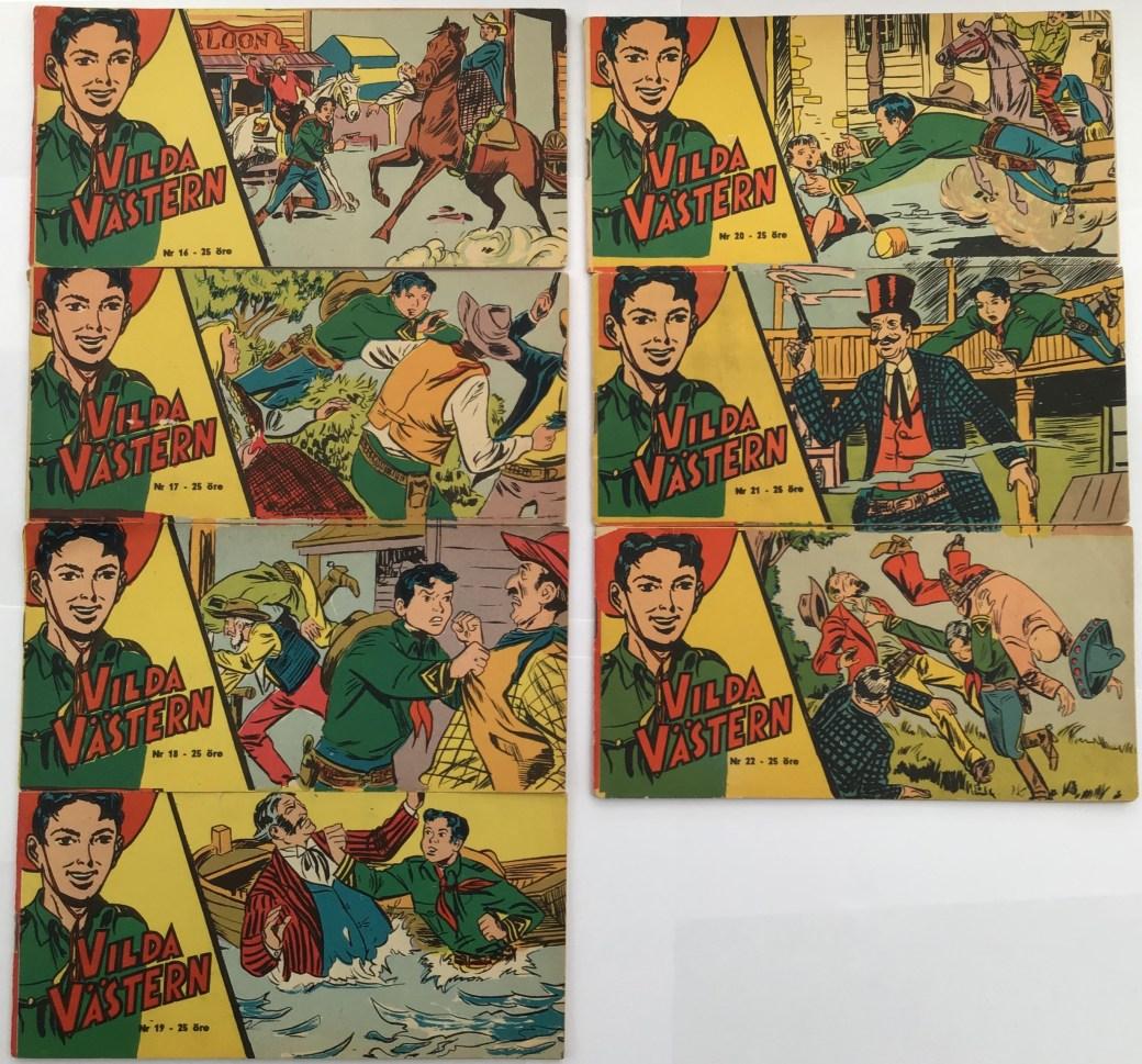 Vilda Västern nr 16-22, 1959