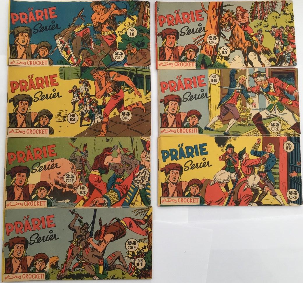 Davy Crockett-äventyr 1958 i Prärieserier nr 11-17, 1958