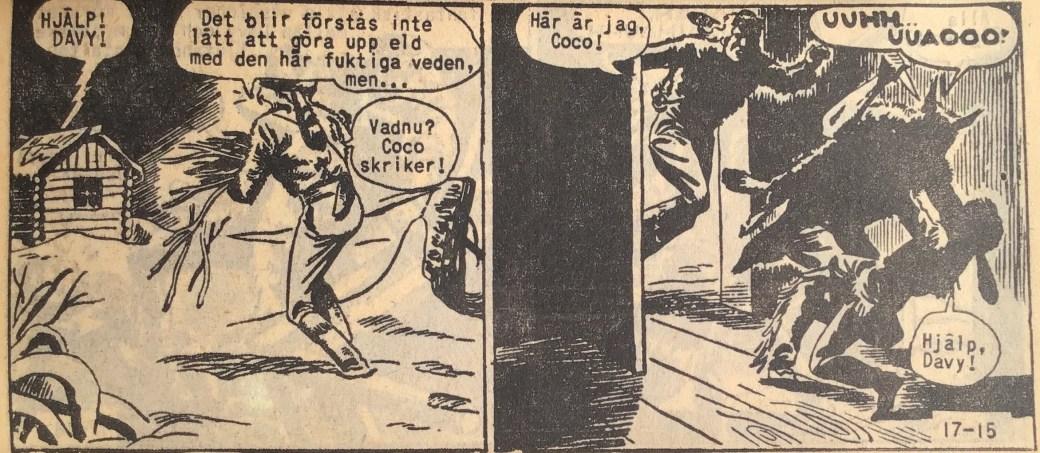 En sida ur Prärieserier nr 17, 1959