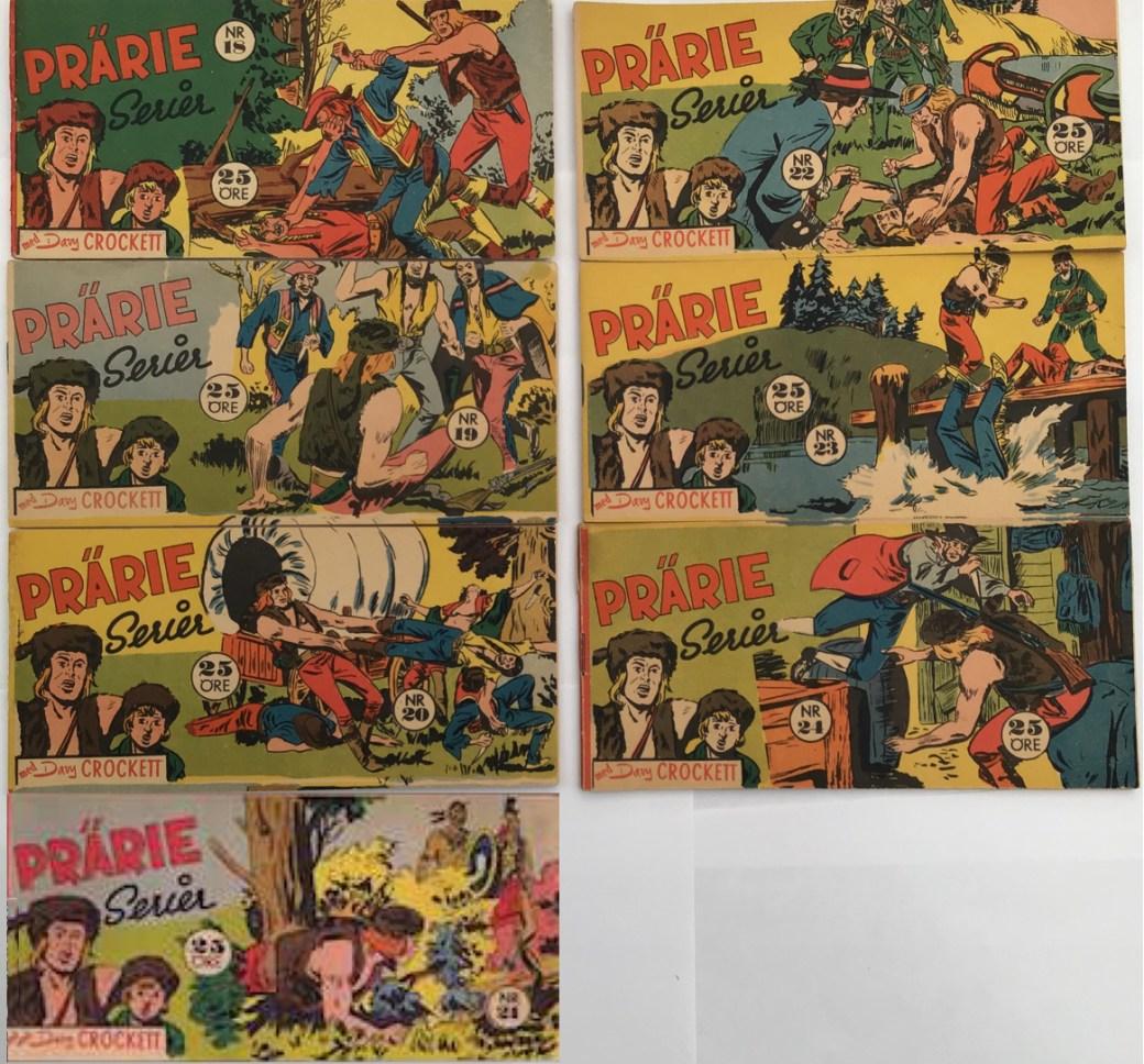 Davy Crockett-äventyr 1958 i Prärieserier nr 18-24, 1958
