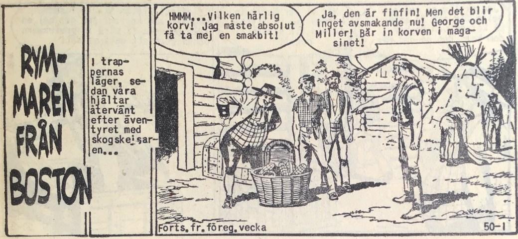 Den inledande sidan ur Prärieserier nr 50, 1959