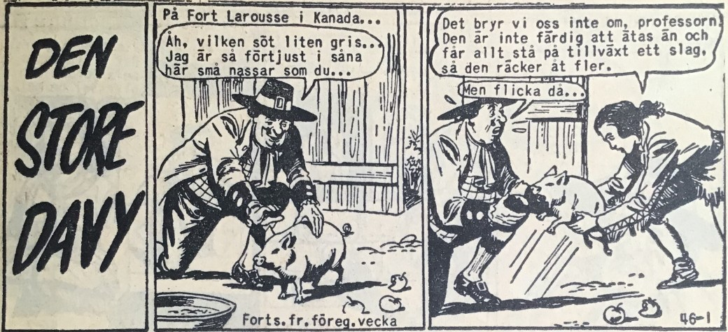 Den inledande sidan ur Prärieserier nr 46, 1958