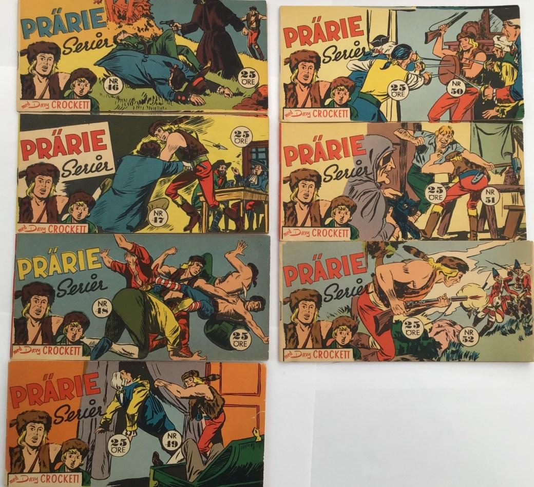 Davy Crockett-äventyr 1958 i Prärieserier nr 46-52, 1958