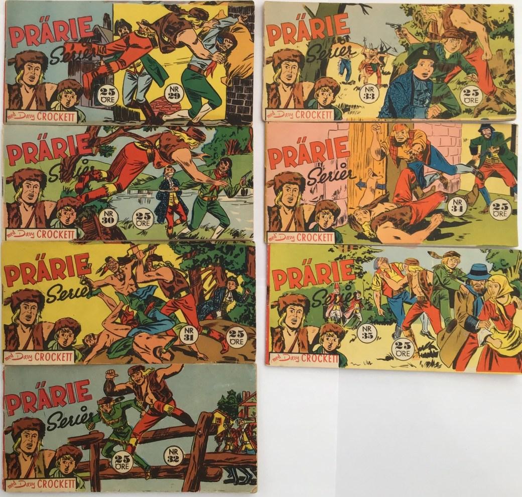 Davy Crockett-äventyr 1959 i Prärieserier nr 29-35, 1959