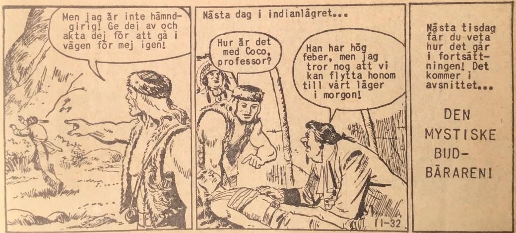 Den avslutande sidan ur Prärieserier nr 11, 1960