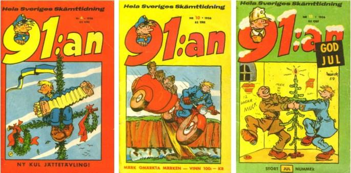 Serietidningen 91:an från 1956 utgiven av ©Åhlén & Åkerlunds förlag