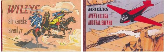Willys afrikanska äventyr (1946) och Willys äventyrliga Australienfärd (1947) i Allers förlags utgivning