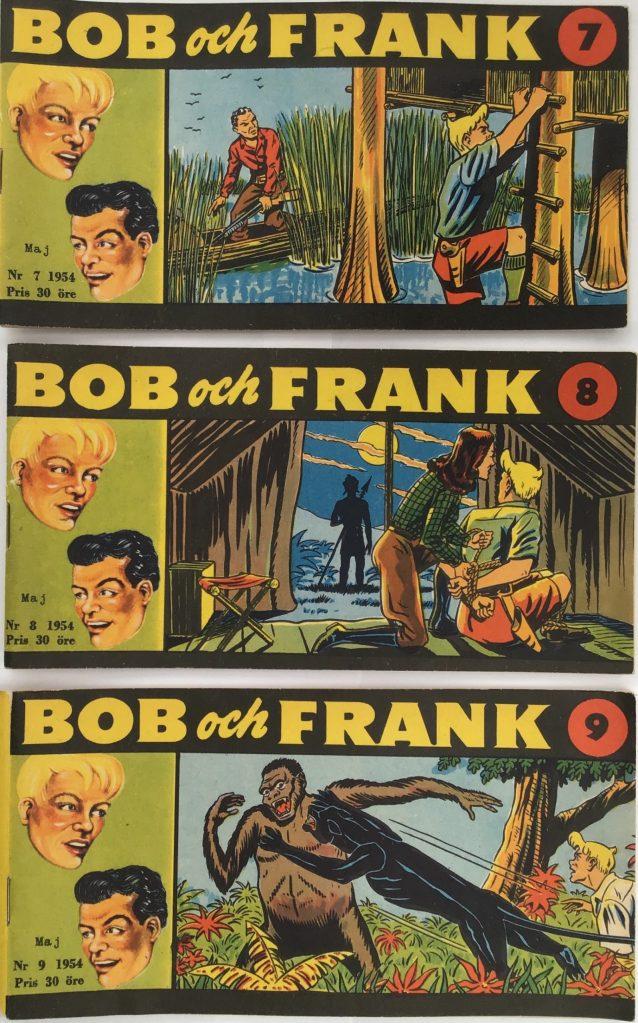 Omslag till Bob och Frank nr 7-9, 1954