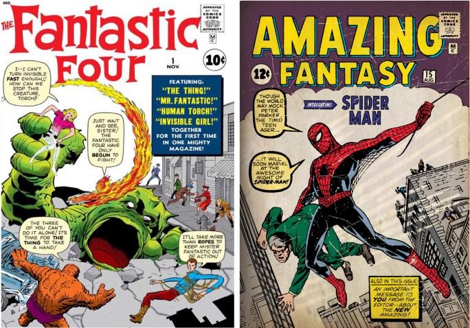 Stan Lee skrev manus till serietidningarna Fantastic Four och Spider-Man. Jack Kirby och Steve Ditko tecknade