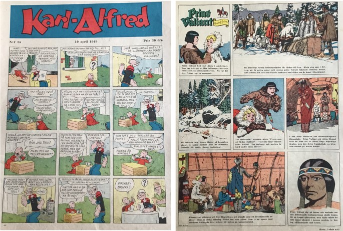 Serietidningen Karl-Alfred publicerades i stort format (25x34 cm) 1946-52