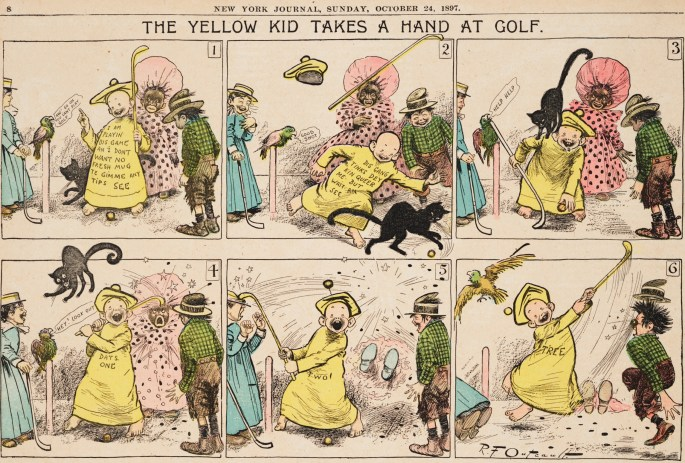 Den tecknade serien The Yellow Kid av Richard F. Outcault från 24 oktober 1897