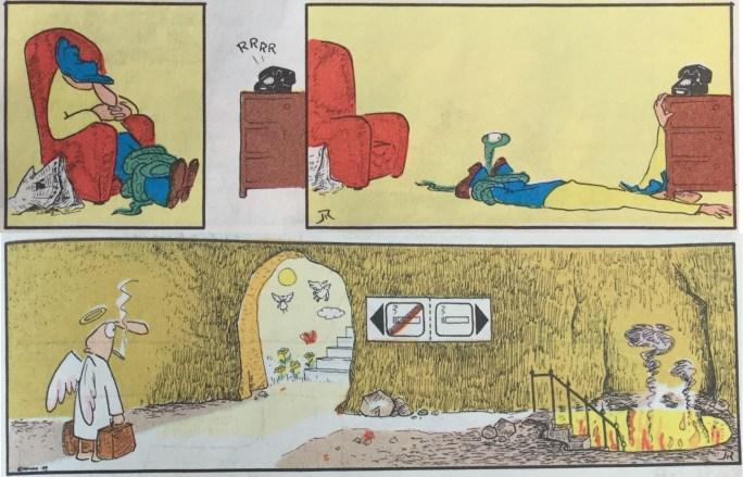 Pyton och Himlens Änglar vart vår tecknade serier som publicerades i SeriePressen