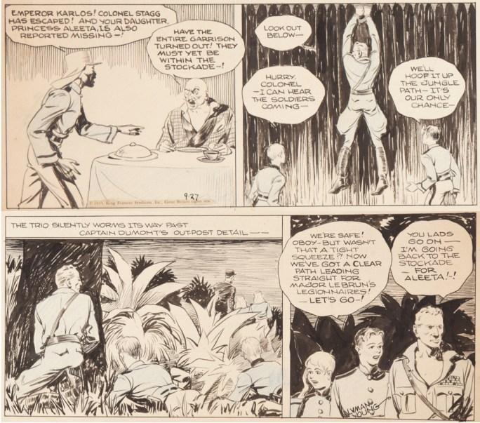 Original till en dagsstripp från 27 september 1933, tecknad av assistenten Alex Raymond