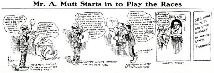 Den tecknade serien A. Mutt av Bud Fisher