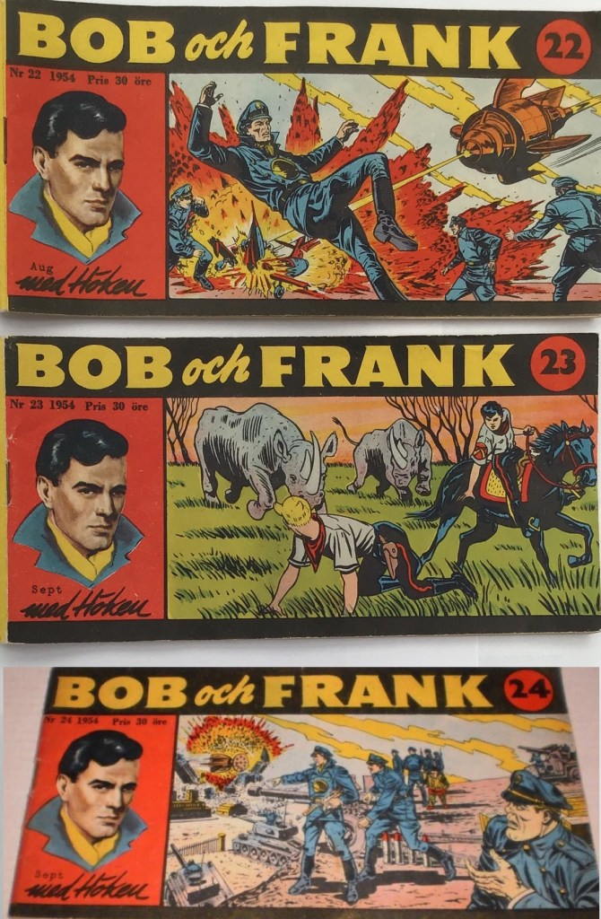 Omslag till Bob och Frank nr 22-24, 1954