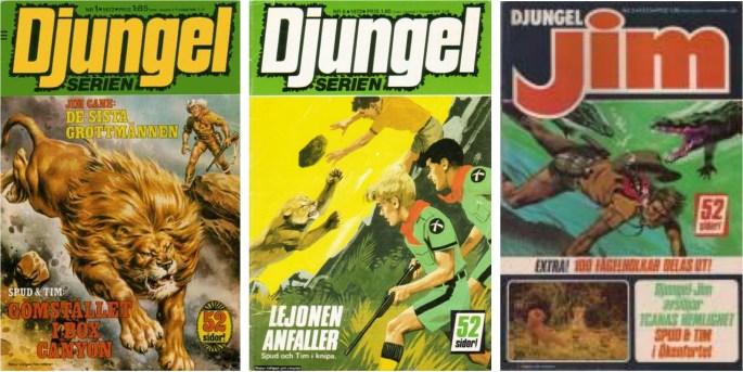 Spud och Tim ingick i Djungelserien och efterföljaren Djungel-Jim