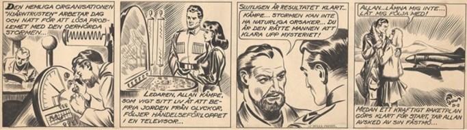 Den tecknade serien Allan Kämpe började i Veckans Serier 1943, och dagsstripparna startade 1945