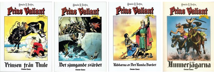 Prins Valiant band 1-4 (1991) från ©Carlsen Comics