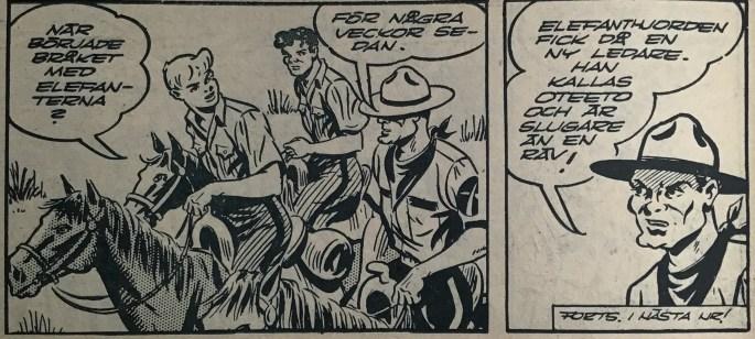 Sista sidan i Bob och Frank nr 10, 1954