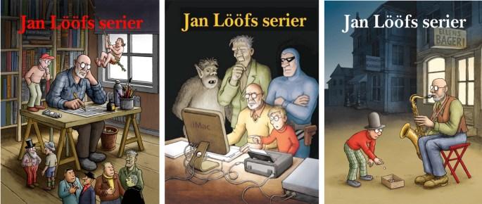 Av serietecknare och andra serieskapare finns t.ex. Jan Lööfs serier numera även i samlingsvolymer