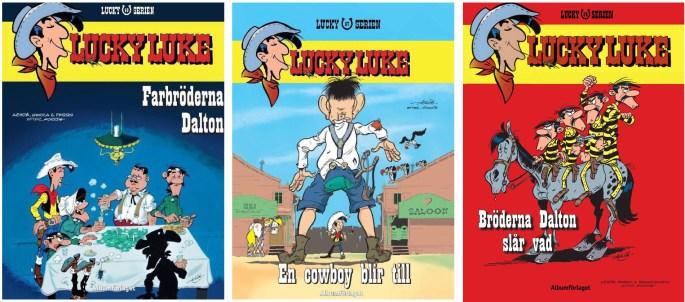 Lucky Luke utgiven som Lucky-serien av Albumförlaget