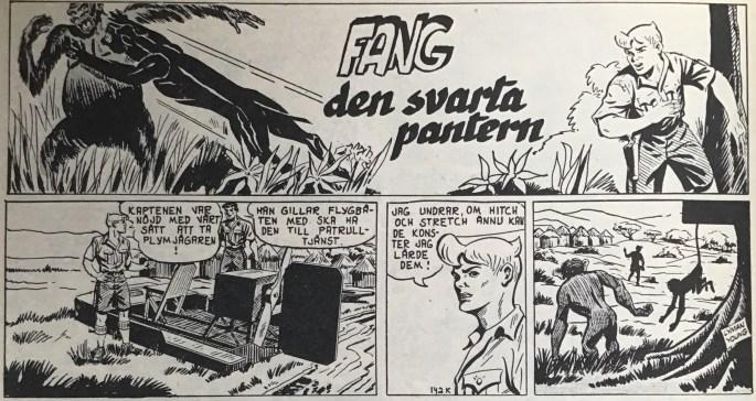 Början på episoden Fang, den svarta pantern