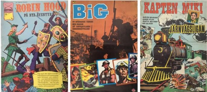 Historiebiblioteket, Big och Kapten Miki utkom i extra stort storformat från ©Centerförlaget