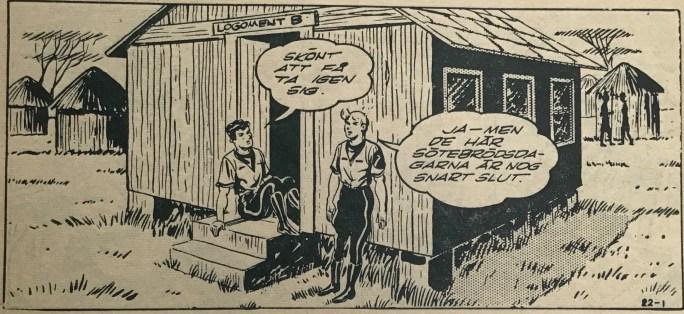 Den inledande sidan i Bob och Frank nr 22, 1954