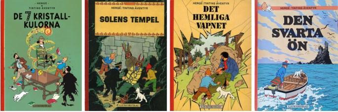Tintin från 1968 utgivna av ©Illustrationsförlaget
