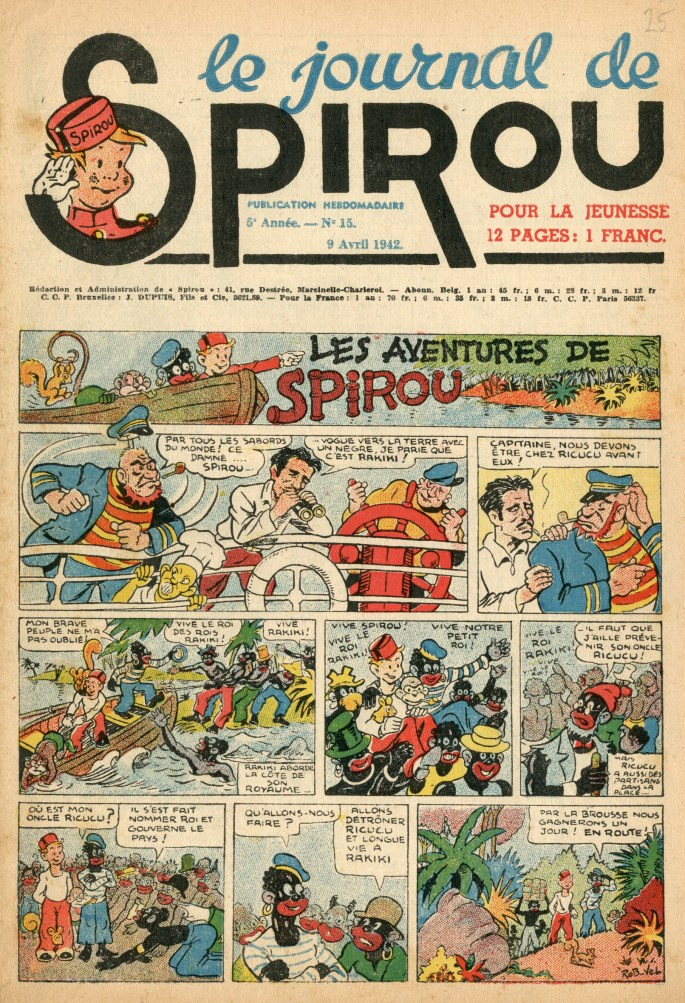Le Journal de Spirou från 9 april 1942, utgiven av ©Dupuis