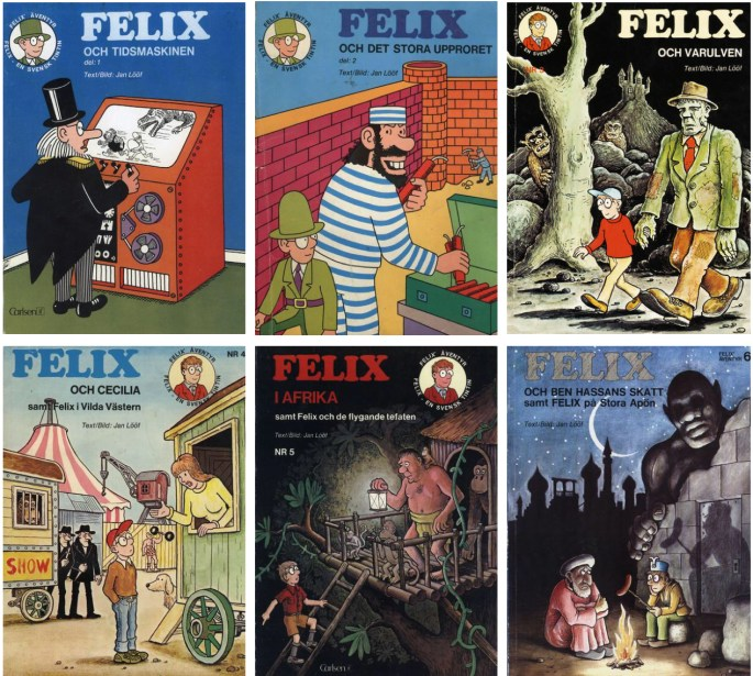 Felix av Jan Lööf från 1973-76 utgiven av ©Carlsen/if förlag