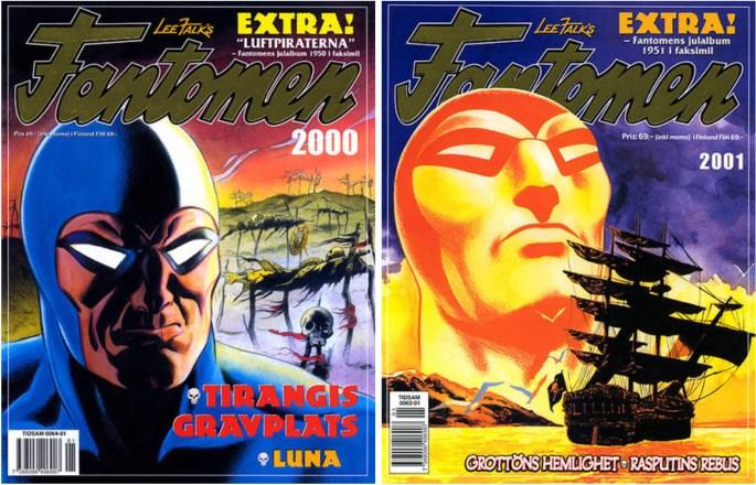 Omslag till julalbum 2000 och 2001 från ©Egmont