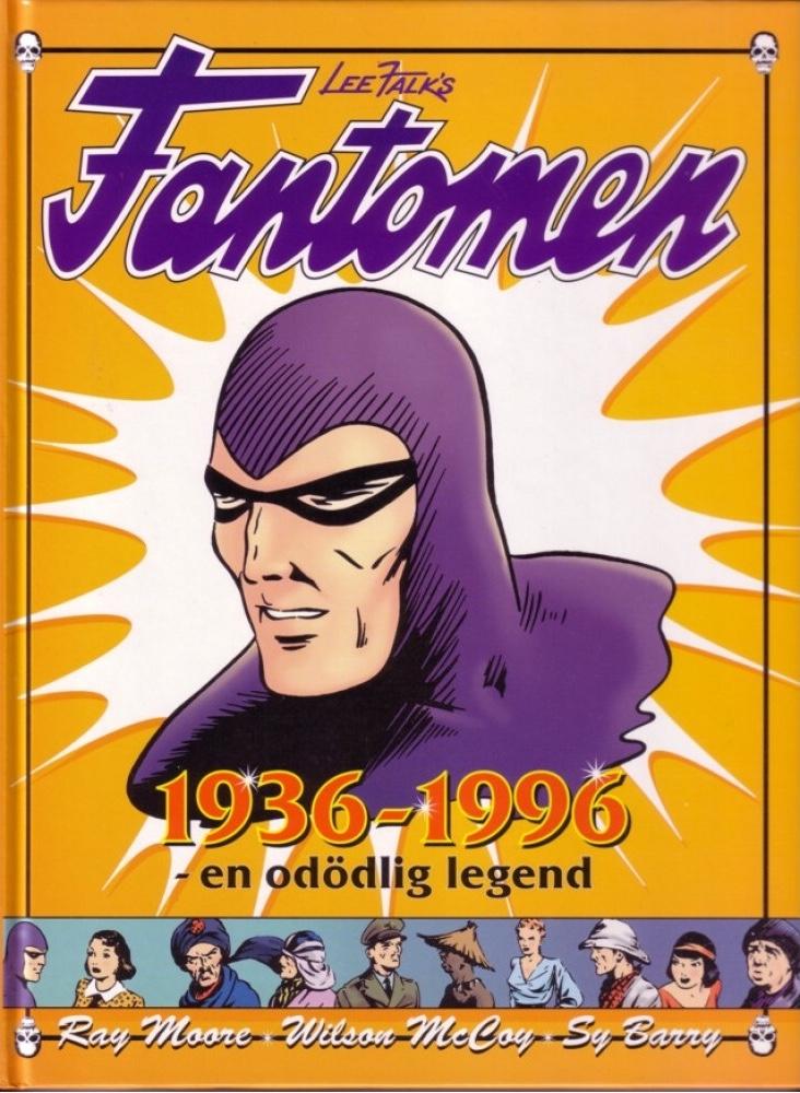 Omslag till jubileumsboken Fantomen 1936-1996