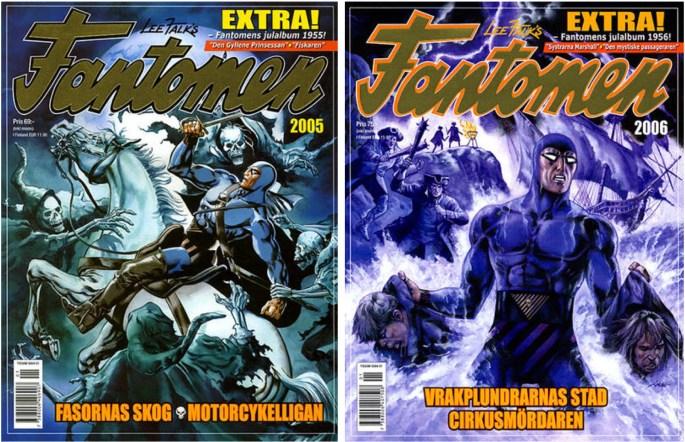 Omslag till Fantomen julalbum 2005 och 2006
