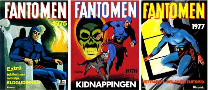 Omslag till Fantomen julalbum 1974, 1975, och 1976