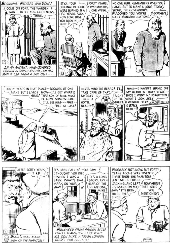 Den inledande söndagssidan från 20 februari 1949