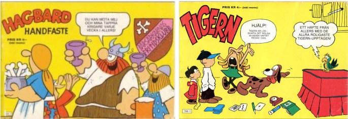 Julalbum med Hagbard Handfaste och Tigern (1975) utgivna av Allers förlag