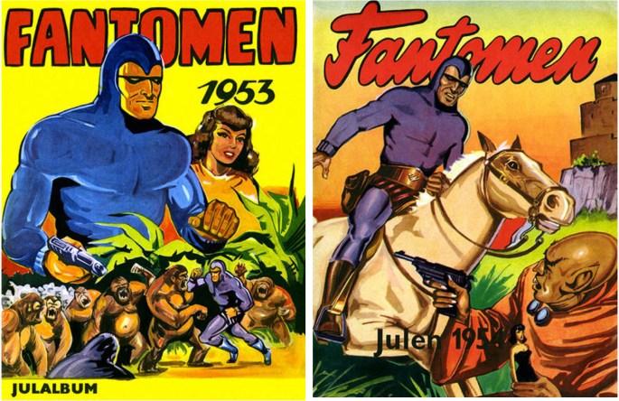 Omslag till Fantomen julalbum 1953 och 1954