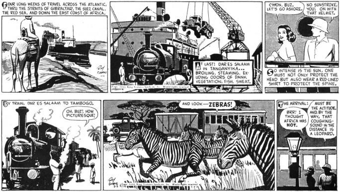 Originalstrippar från 1-2 februari 1949