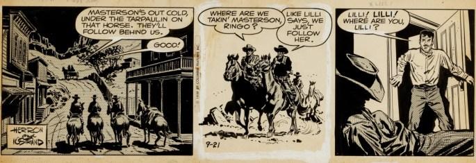 Original till en dagsstripp från 21 september 1959, ur serien Bat Masterson av Howard Nostrand, skaparen av Shirl the Jungle Girl