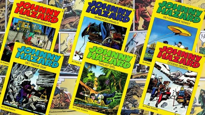 Rogers Seriemagasin: Johnny Hazard seriealbum utgivna av Carlsen Comics