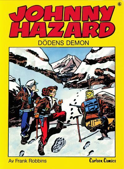 Omslag till Johnny Hazard 6, Dödens demon. ©Carlsen