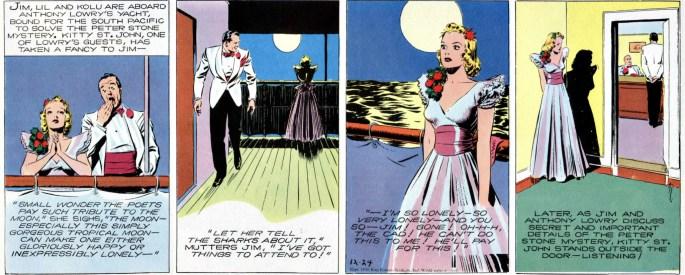 Jungle Jim episod-guide: Kitty söker Jims uppmärksamhet (strippen från 24 december 1939)